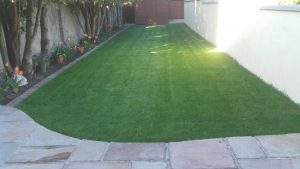 roll on grass patio