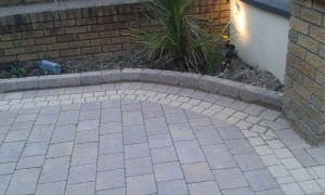 Rustic cobbles with kerbs