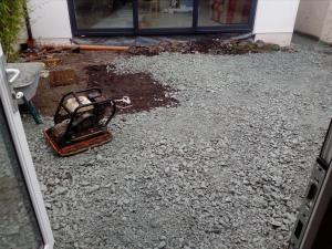 Patio paving in progress