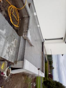 granite patio paving and granite capped
