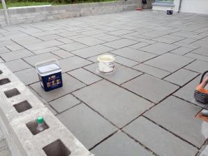 grey limestone patio contractor
