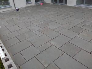 grey limestone patio paving