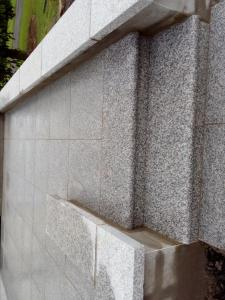 silver granite patio with bullnose steps