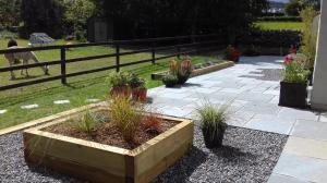 Limestone patio paving and handicapping
