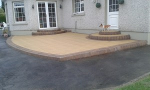 Patio slabs and steps