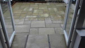 cambridge paving slabs and step