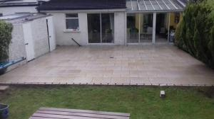 golden granite paving