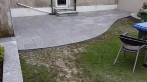 granite patio curved