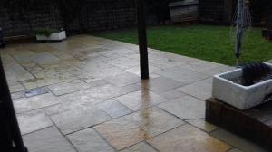 limestone paving patio