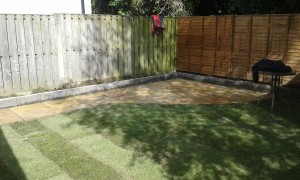 Indian sandstone and roll on grass