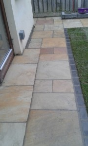 Indian sandstone with black border