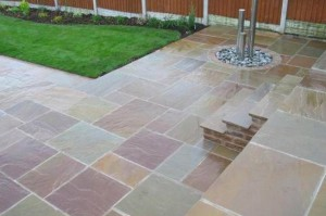 Indian sandstone with steps