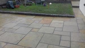 patio yellow limestone