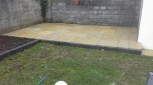 raised patio limestone