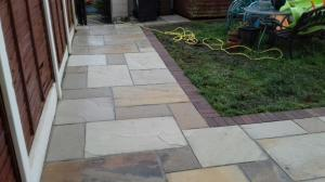 rustic border with sandstone
